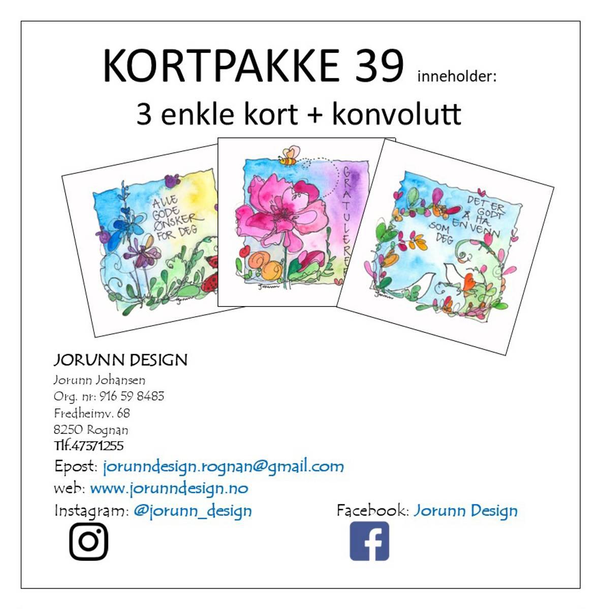 Kortpakke 39